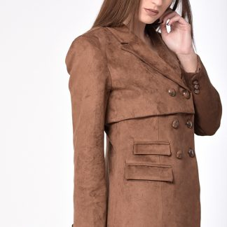 8d2e9ce8aa Σακάκι blazer με μεγάλο γιακά και σούρα στο μανίκι μαύρο – misitimi ...