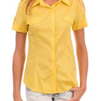 Πουκάμισο e-seleno με κοντό μανίκι σε κίτρινο χρώμα.
